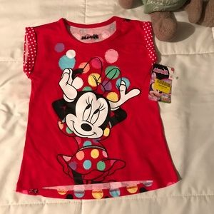 🌟🌟 Girls 3T Minnie Mouse Shirt 🌟🌟